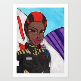 Portrait of a Starship Captain Art Print