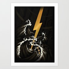 Electric Guitar Storm Art Print