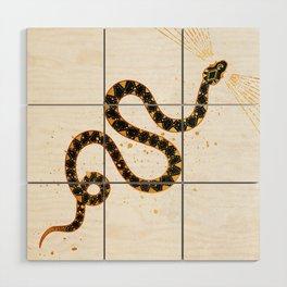 Dark Snake Inktober :: Sleep Copiously Wood Wall Art