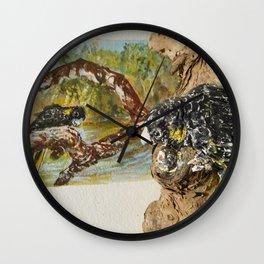 Black Cockys Wall Clock