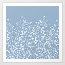 Fern Pattern Baby Light Blue Art Print