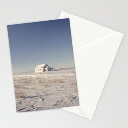 Winter, Galpin Church, Montana 3 Stationery Cards