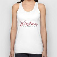 wisconsin Tank Tops featuring Wisconsin Badgers  by Niki Addie Creative Design Co.