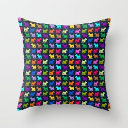 Scotty Dogs multi Throw Pillow