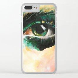Contemporary Eye Art Clear iPhone Case