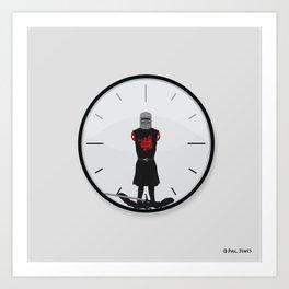 The Most Worthless Clock Art Print
