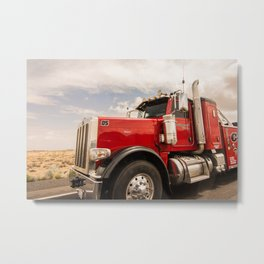 Red truck California Metal Print