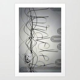 Unraveled; unrevealed Art Print