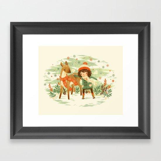 A Wobbly Pair Framed Art Print