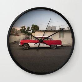 Neat vintage car in Cienfuegos, Cuba. Wall Clock