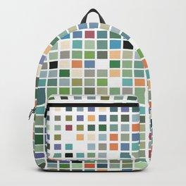 RAINBOW TILES Abstract Art Backpack