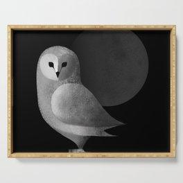 Barn Owl Full Moon Serving Tray