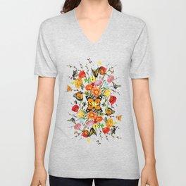 Butterfly Bouquet  Unisex V-Neck