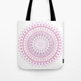 Rose White Mandala Tote Bag