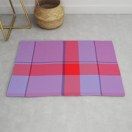 Red Violet Tartan Plaid Rug