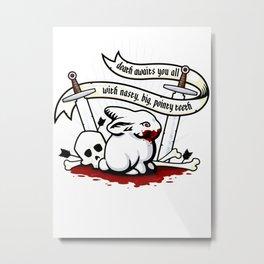 The Rabbit of Caerbannog Metal Print