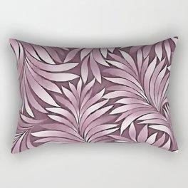 Ornamental Leaves In Pastel Eggplant Hues Rectangular Pillow