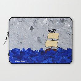 Pirate Ship On Stormy Seas in Acrylic Laptop Sleeve