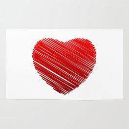 Scribbled red valentine heart- be my valentine Rug