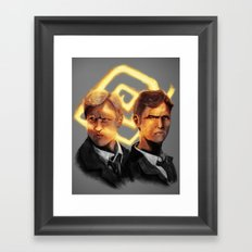 Detectives Framed Art Print