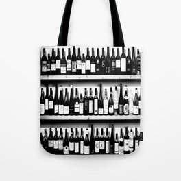 Wine Bottles in Black And White #decor #society6 #buyart Tote Bag