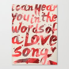 words of a love song Canvas Print