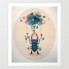funny beetle Art Print