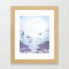 Moonlit Crows Framed Art Print