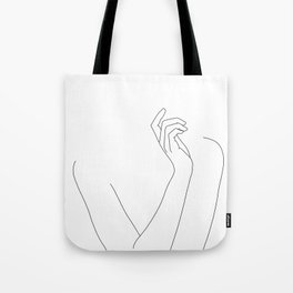 Hand and body illustration - Alma Tote Bag