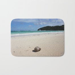 The Coconut Nut is a Giant Nut - beach view Bath Mat
