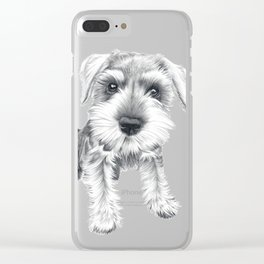 Schnozz the Schnauzer Clear iPhone Case