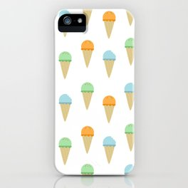 Ice Cream Pattern iPhone Case