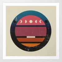 lunar Art Prints featuring Lunar by Trent Kühn