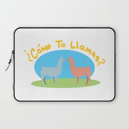 Como Te Llamas Laptop Sleeve