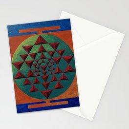 sri yantra 3d Stationery Cards