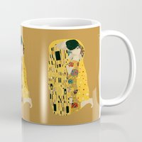 gustav klimt Mugs featuring klimt by Live It Up