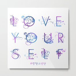 Kpop BTS: LOVE YOURSELF! Metal Print