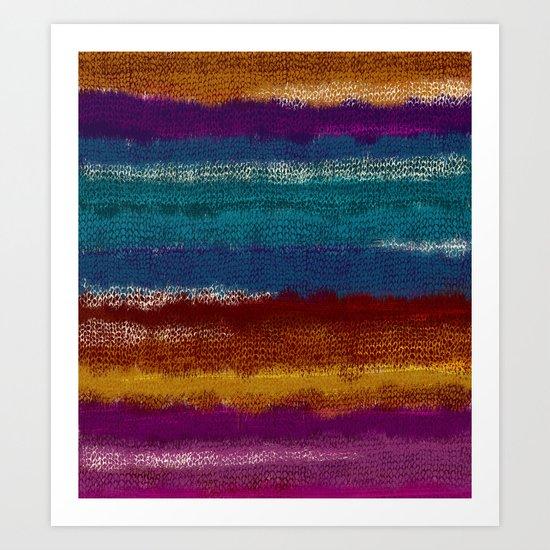 Knit stripes Art Print