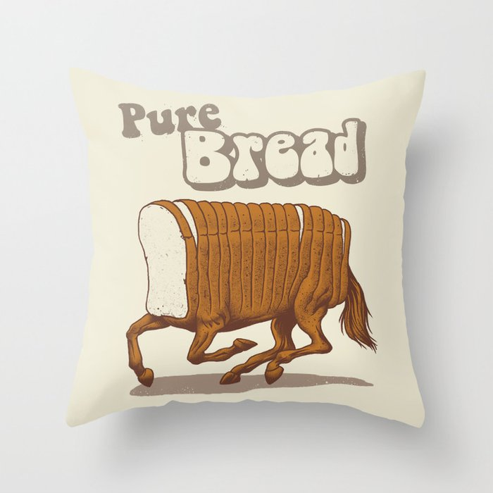 Pure Bread Throw Pillow