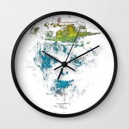Skull Watercolor Wall Clock