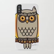 Owl in a Circle iPhone X Slim Case