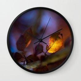 Prunus leaf Wall Clock