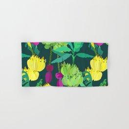 Banana Bunches in Dark Green Hand & Bath Towel