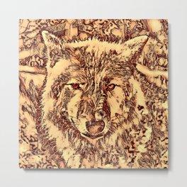 Animal ArtStudio - amazing Wolf Metal Print