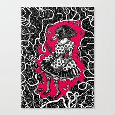 Crow Serie :: Aglaé (red) Canvas Print