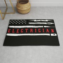 Electrician American Flag Patriotic Rug