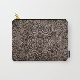 Mandala - rose gold and black marble 3 Carry-All Pouch
