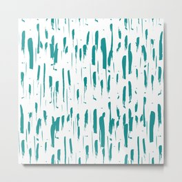 Harmony Tropical Green Metal Print