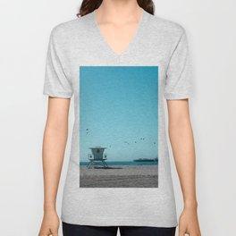 Birds and lifeguard Unisex V-Neck