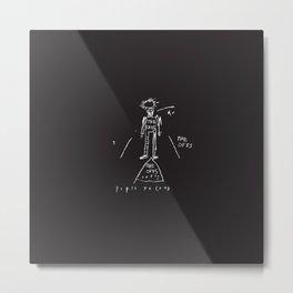 80s Punk Rock, ska record cover, Vectorised Basquiat Metal Print